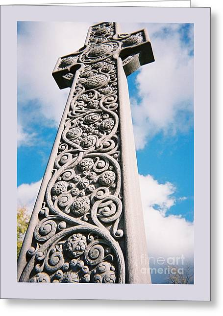 Art Nouveau Celtic Cross I Greeting Card by Peter Gumaer Ogden