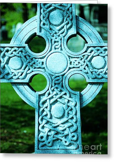 Celtic Cross Greeting Card by Kathleen Struckle