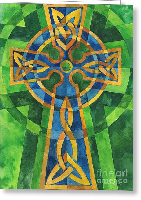 Celtic Cross Greeting Card by Mark Jennings