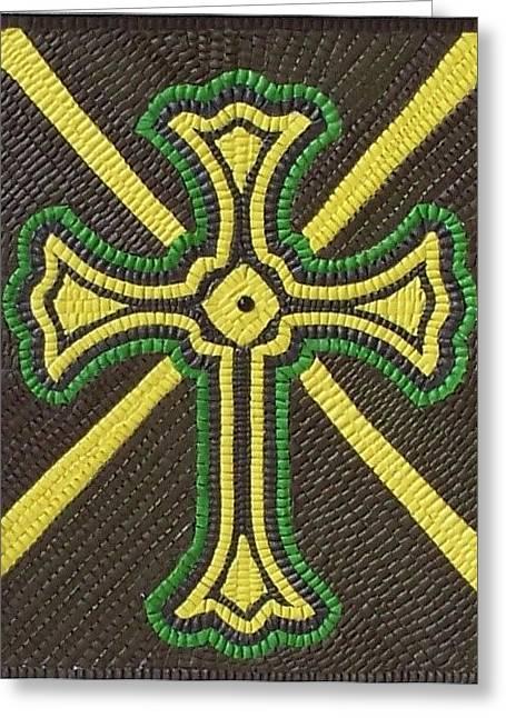 Celtic Cross Greeting Card by Paul London