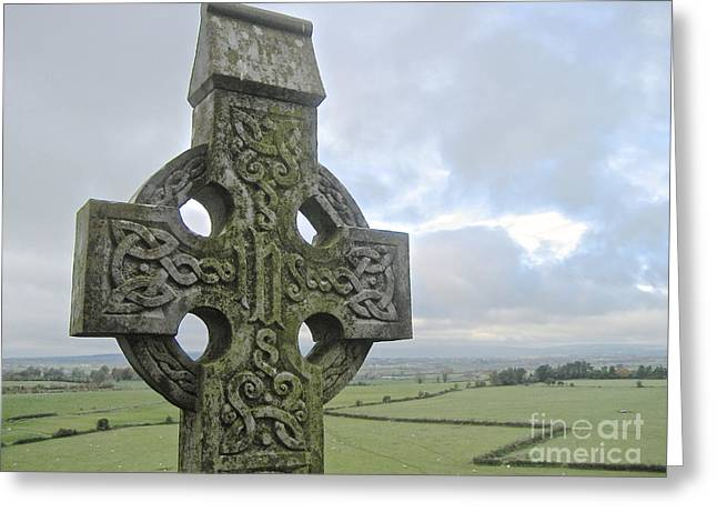 Celtic Cross Greeting Card by Suzanne Oesterling