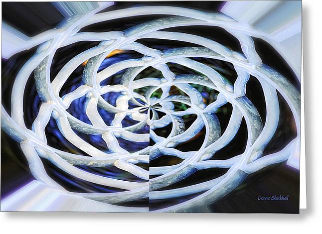 Celtic Knot Greeting Card by Donna Blackhall