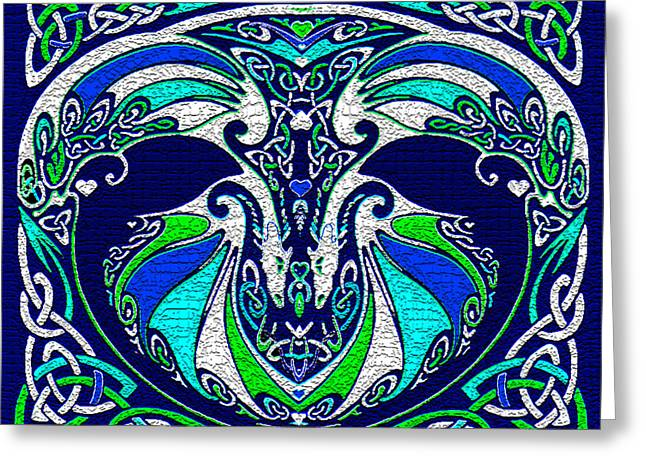 Celtic Love Dragons Greeting Card