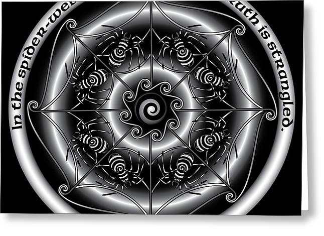 Celtic Spider Mandala Greeting Card