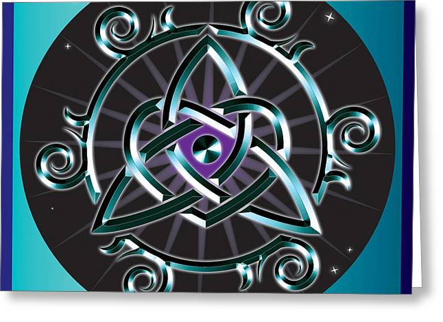 Celtic Triquetra Heart Greeting Card