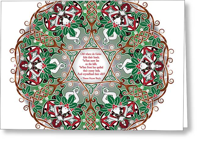 Celtic Winter Fairy Mandala Greeting Card
