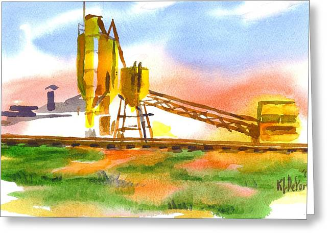 Cement Plant Across The Tracks Greeting Card by Kip DeVore
