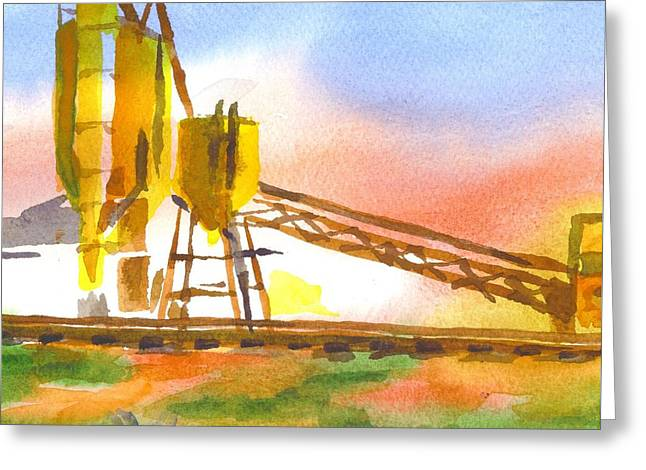 Cement Plant II Greeting Card by Kip DeVore