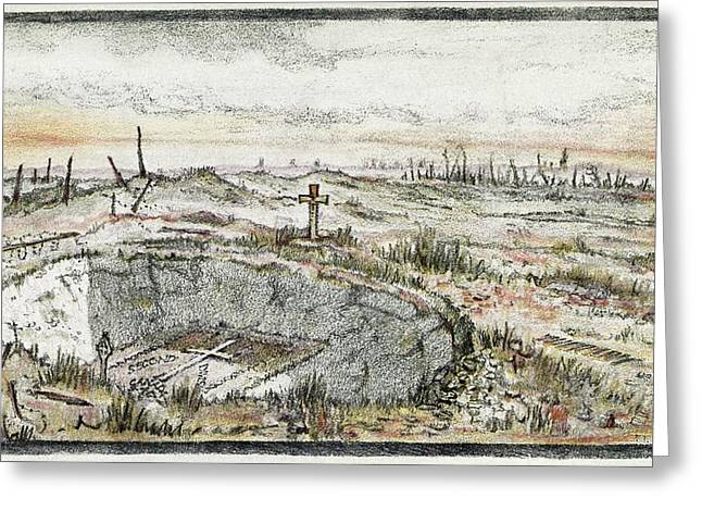 Cemetary On Vimy Ridge Greeting Card by Library Of Congress