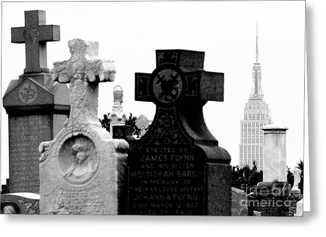 Cemetery City Greeting Card