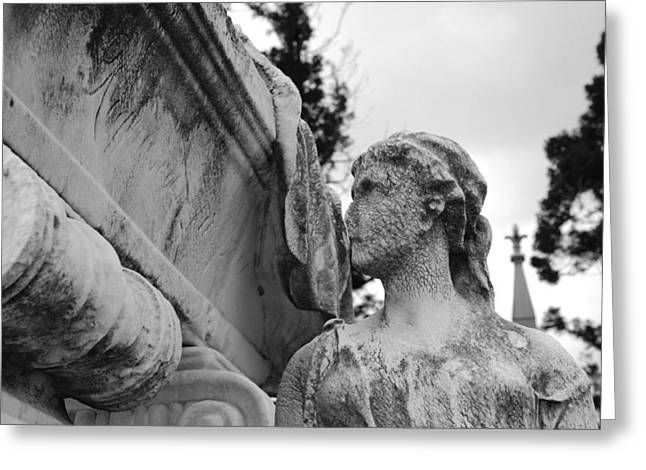 Cemetery Gentlewoman Greeting Card by Jennifer Ancker
