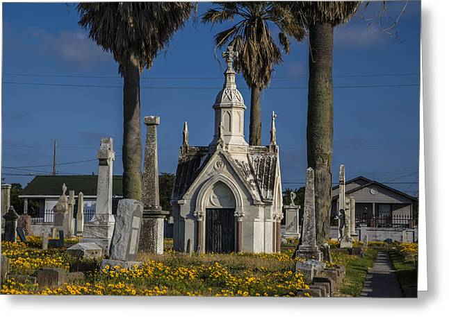 Cemetery In Galveston Tx During The Day Greeting Card by John McGraw