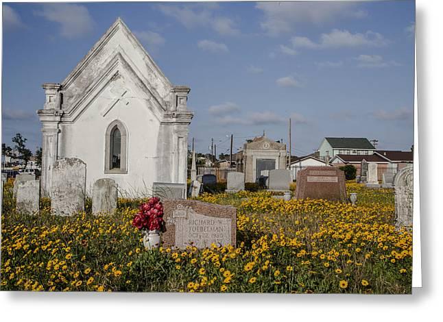 Cemetery In Galveston Tx Greeting Card by John McGraw
