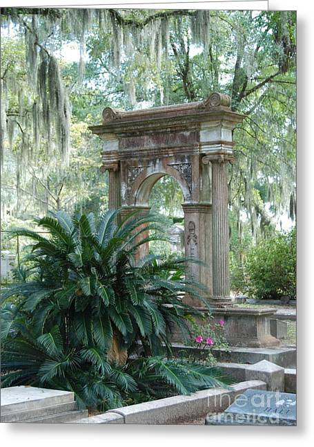 Cemetery  Greeting Card by Kathy Gibbons
