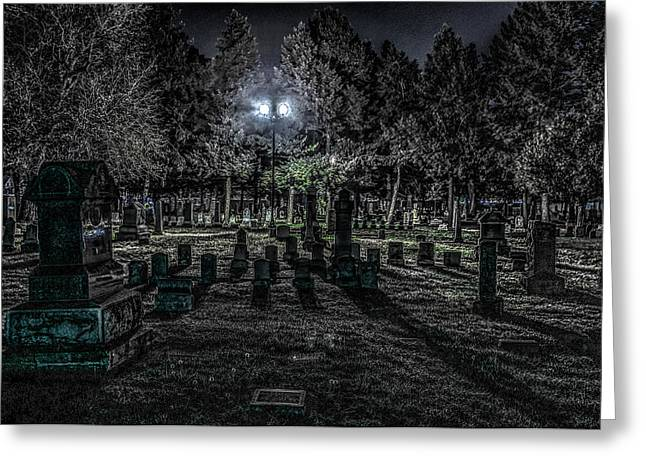 Cemetery  Greeting Card by Ray Congrove