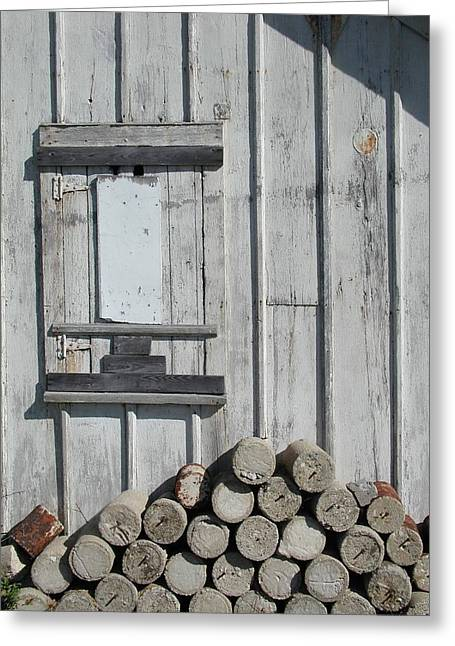 Cemetery Shed Greeting Card by Joseph Yarbrough