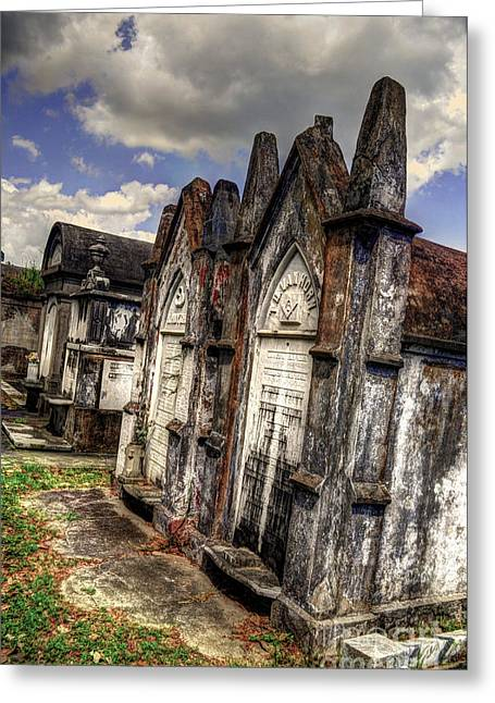 Cemetery Tomb New Orleans Greeting Card by Timothy Lowry