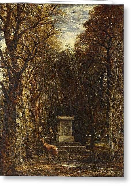 Cenotaph To The Memory Of Sir Joshua Reynolds Greeting Card by John Constable