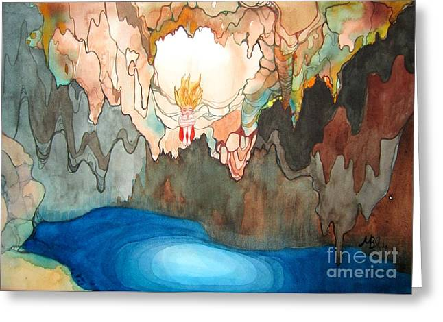 Cenote Greeting Card by Maya Simonson