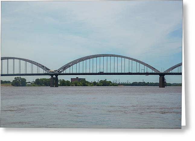 Centennial Bridge Spanning Greeting Card by Panoramic Images