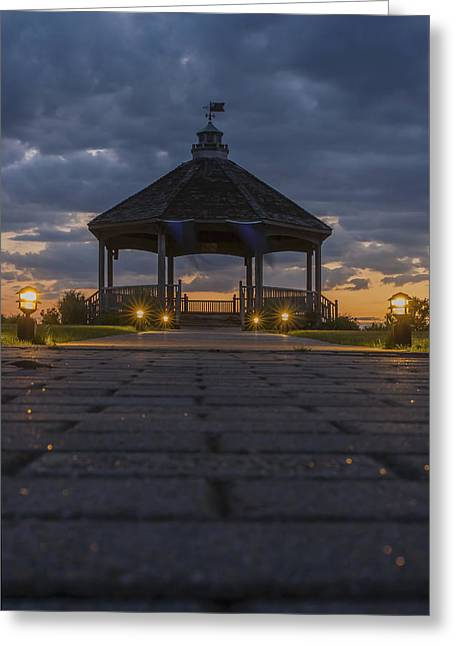 Centennial Gazebo Lavallette New Jersey Greeting Card by Terry DeLuco