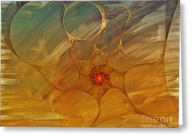 Center Of A Cyclone Greeting Card by Deborah Benoit