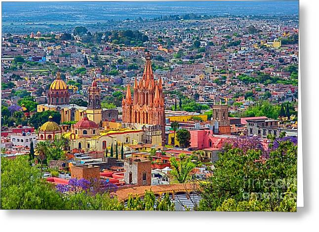 Center Of San Miguel De Allende Greeting Card