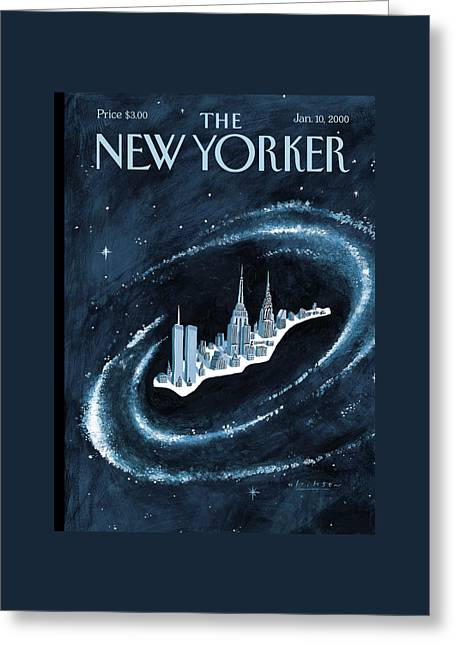 Center Of The Universe Greeting Card by Mark Ulriksen