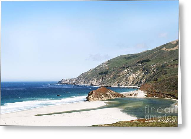 Central Coast Beach Near Cambria And San Simeon Greeting Card by Artist and Photographer Laura Wrede