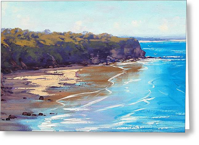 Central Coast Headland Greeting Card by Graham Gercken