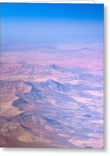 central Fuerteventura from the air Greeting Card by Tamara Kulikova