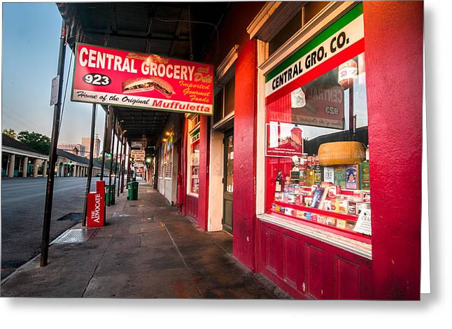 Central Grocery And Deli In New Orleans Greeting Card by Andy Crawford