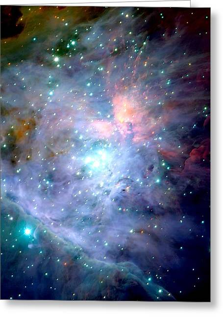 Central Orion Nebula Greeting Card