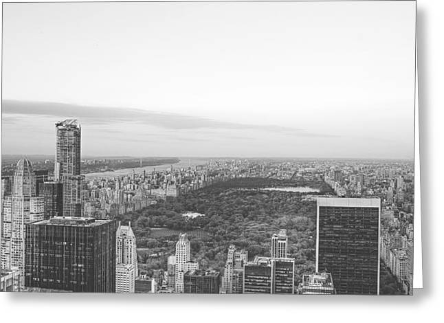 Central Park At Dusk Greeting Card