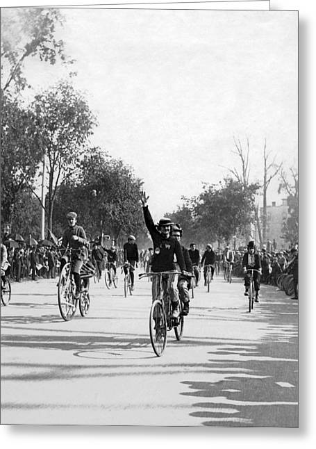 Central Park Bicycle Parade Greeting Card