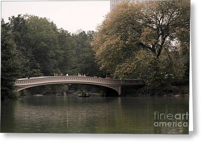 Central Park Bow Bridge Greeting Card by David Bearden