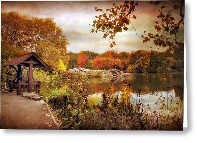 Central Park Foliage Greeting Card by Jessica Jenney