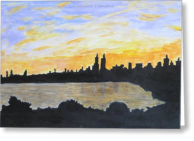 Central Park In Newyork Greeting Card by Sonali Gangane