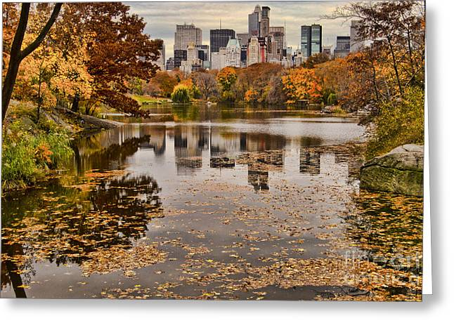 Central Park In The Fall New York City Greeting Card