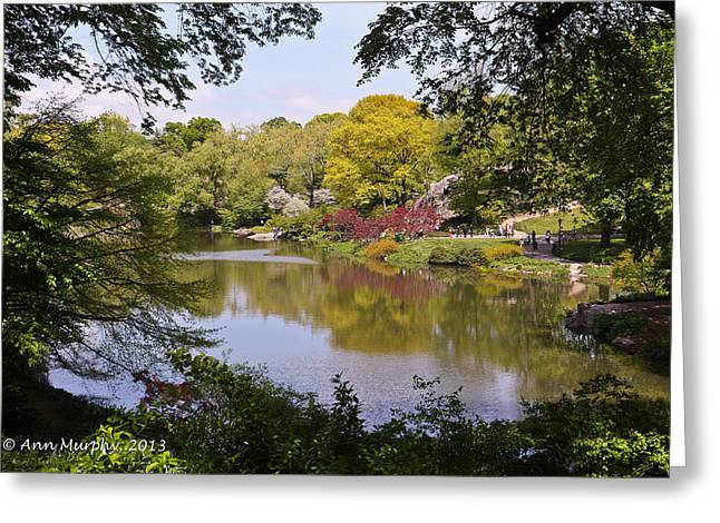 Greeting Card featuring the photograph Central Park Landscape by Ann Murphy