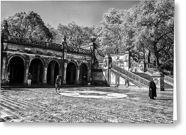 Central Park - Near Bethesda Fountain Greeting Card by Madeline Ellis