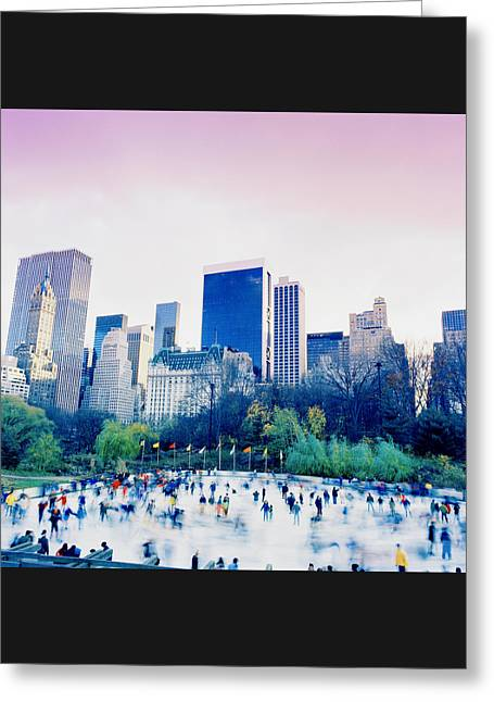 New York In Motion Greeting Card by Shaun Higson