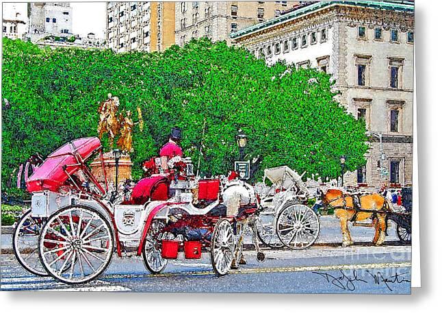 Central Park Ny Greeting Card by Art Mantia