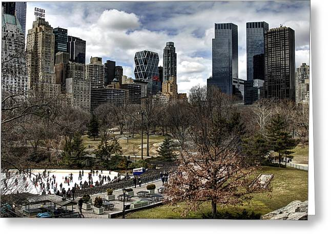 Central Park Nyc - Wollman Rink Greeting Card by Joe Paniccia
