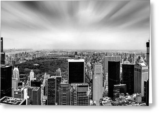 Central Park Perspective Greeting Card by Az Jackson