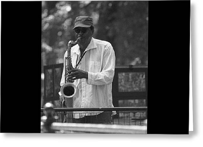 Central Park Sax Greeting Card