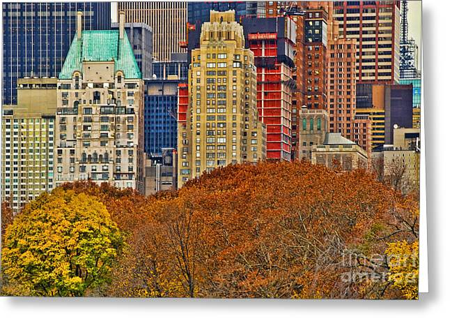 Central Park South New York City Greeting Card