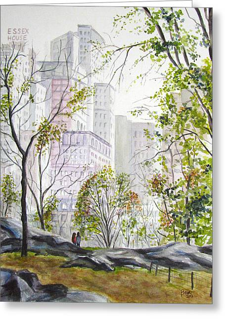 Central Park Stroll Greeting Card