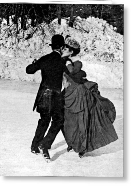 Central Park Victorian Skaters  Greeting Card