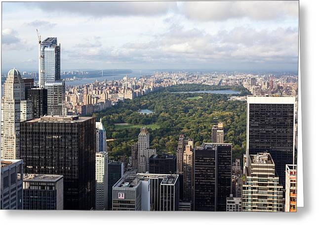 Central Park Greeting Card by Wolfgang Woerndl